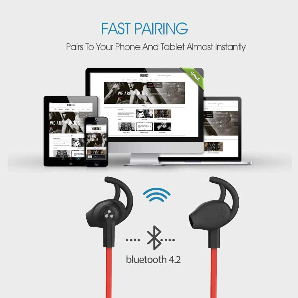 Sylaba SF801 Bluetooth 4.2 Mini bezprzewodowe słuchawki stereo wbudowany mikrofon sportowe odporny na pot słuchawki sylaba SF801 zestaw słuchawkowy