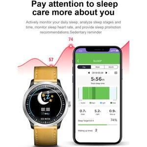 "Image 4 - חכם שעון אק""ג PPG חכם להקת כושר קצב לב צג לחץ דם שעון עמיד למים Smartwatch עבור IOS אנדרואיד טלפון שעון"