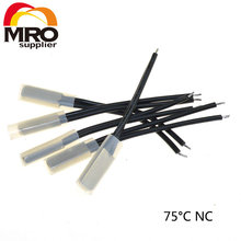 5Pcs lot 75C Degree Celsius NC Normal Close Thermostat Thermal Protector Thermostat temperature control switch 250V