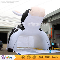 Free Express air supported structure inflatable milking cow tent tunnel toy tent