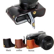 Классическая искусственная кожа Камера сумка Половина Чехол Обложка для Panasonic Lumix DMC-GX80 DMC-GX85 GX80 GX85 Камера половина тела комплект