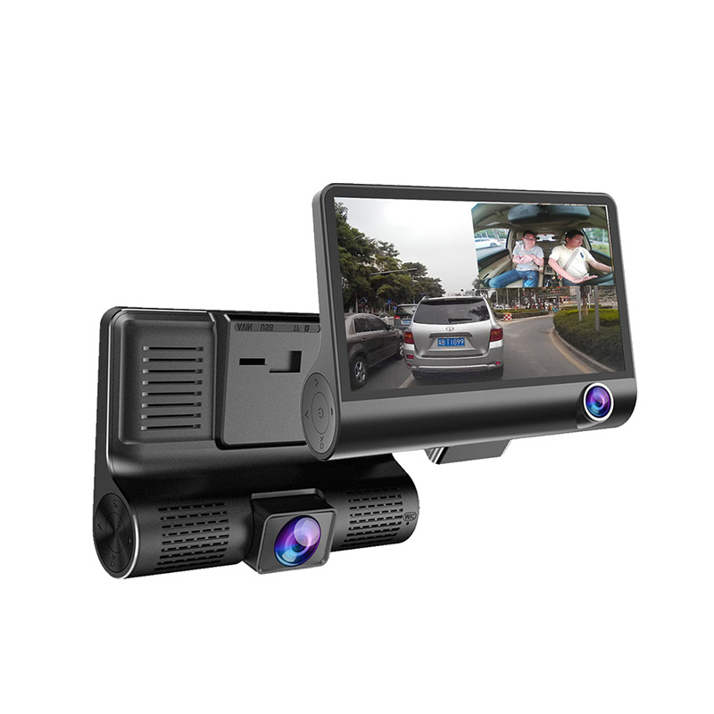 Video-Recorder Car-Dvr-Cameras Dash-Cam Lens-4.0inch Dual-Lens Auto-Registrator-Dvrs