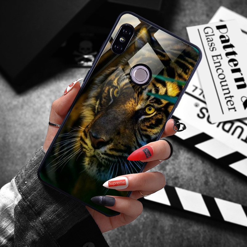 note 5 phone cases Tempered Glass Case For Xiaomi Redmi Note 5 5 Pro 5 Plus Note 4X Case Luxury Animal Pattern Case For Xiaomi Mi 8 A1 5X Coque (8)