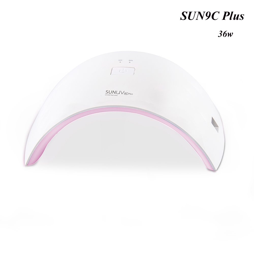 New Nail Dryer SUN9c Plus 36W UV LED Gel Nail Lamp UV led lamp with Button Control Gel Manicure Dryer Nail Polish Dries Machine