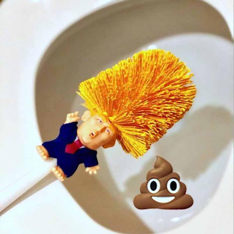 Toilet Brush Holders WC Borstel Emmanuel Macron Brosse ,Original Trump Toilet Brush, Make Toilet Great Again Commander In Crap