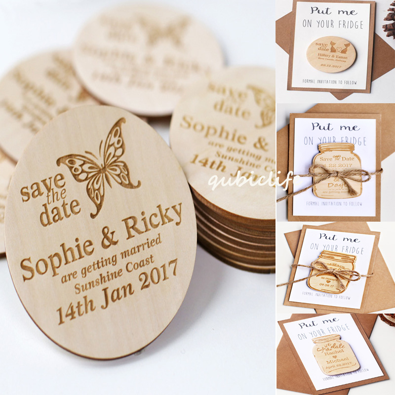 Butterfly Stlyes Wedding Save the Date Magnets