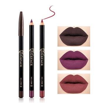 2019 Sexy Batom Mate Long Lasting Moisturizer Lipliner Waterproof Matte Lipstick Pencil Lip Liner Makeup Contour Lip Tint