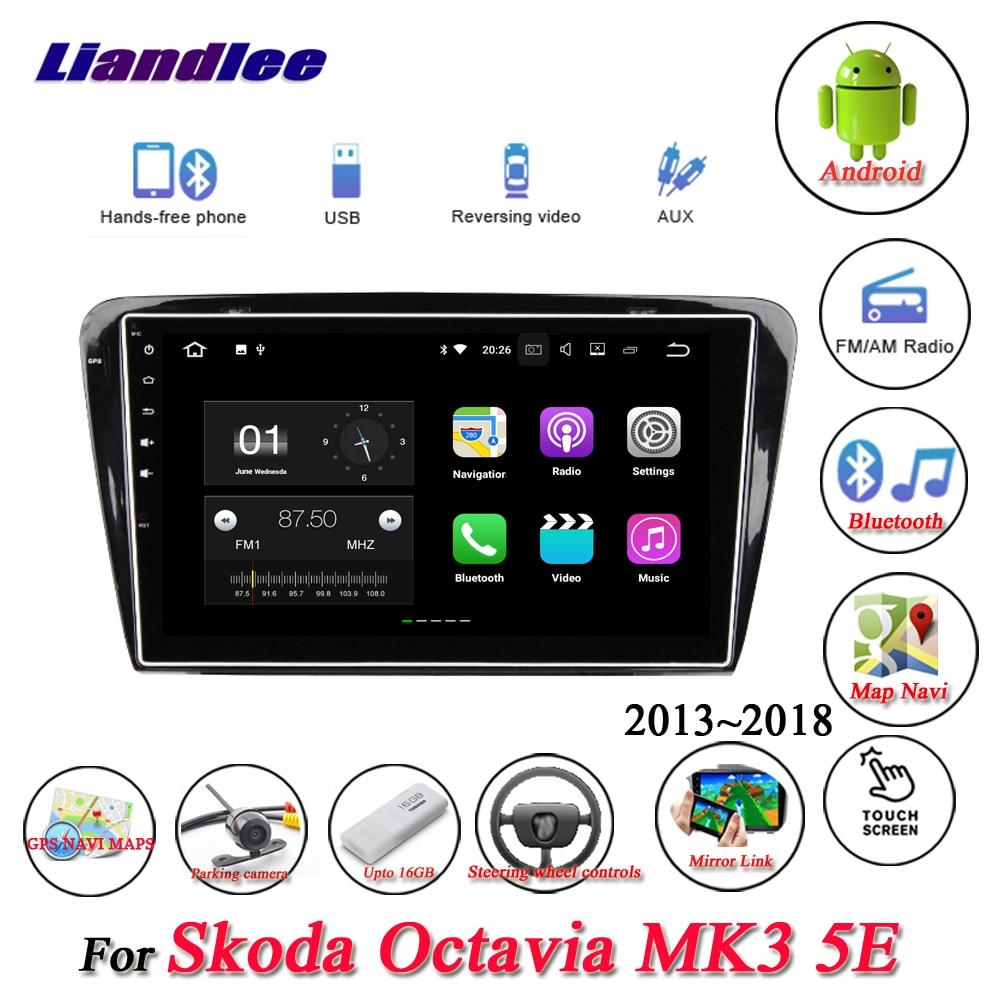 купить Liandlee Car Android System For Skoda Octavia MK3 5E 2013~2018 Radio USB GPS Wifi Navi Navigation HD Stereo Multimedia No CD DVD по цене 31394.45 рублей