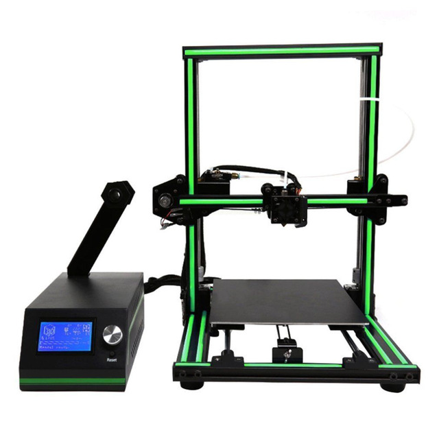 LCD Display Professional 3D Printer High Precision Aluminum Alloy Frame Large Printing Size DIY 3D Printer Kit 3