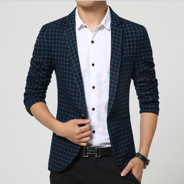 M-3XL!!!! The New Spring 2015 Men's Fashion Luxury And Comfortable Big Size Men's Brand Mens Blazers Men Suits Spring Coat