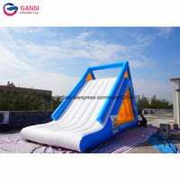 Commercial giant inflatable water toys triangle slides,factory price inflatable water slide for water park
