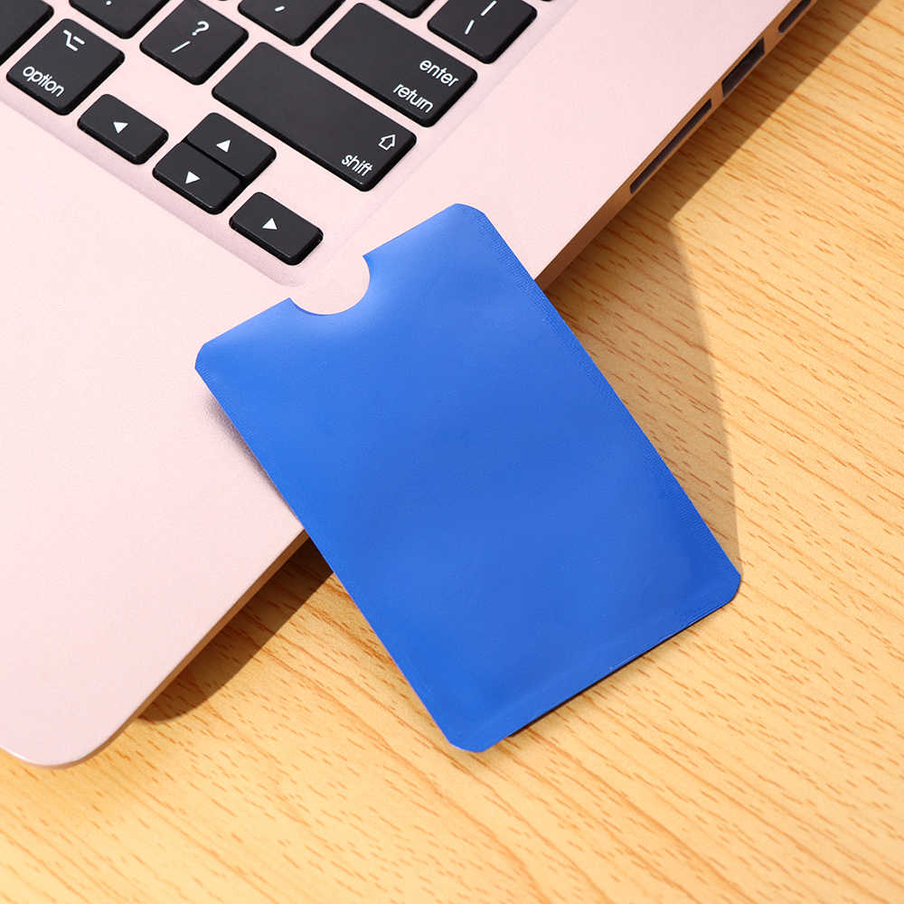 10 Pcs/Set Metal Credit Card Holder Anti-theft Reader Lock Bank ID Case Anti Rfid Blocking Card Holder Smart Safety Protection