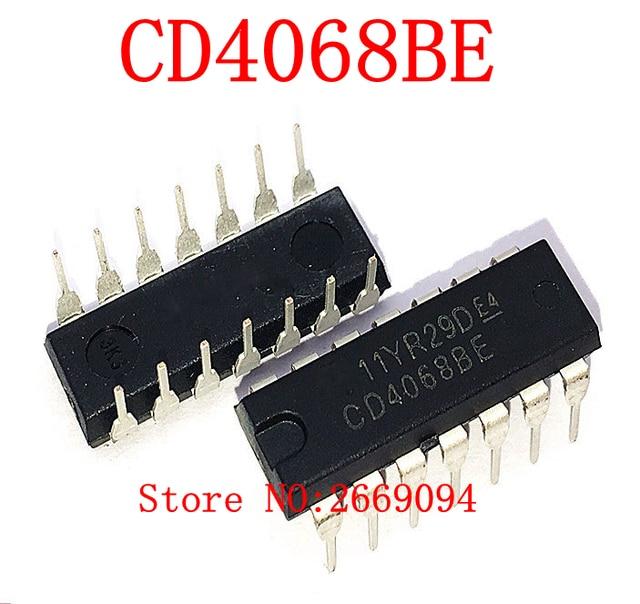 Ic Free Shipping >> 10pcs Cd4068be Dip14 Cd4068 Hef4068bp Hcf4068be Hcf4068 4068 Dip New