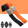 AOTU 21mm Silicone Rubber Watch Band Strap Bracelet for Tissot TOUCH COLLECTION EXPERT T013 Watch Waterproof Watchband+Free TOOL