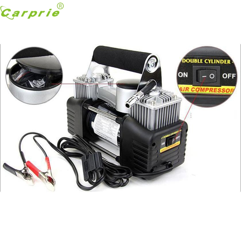 New Arrival Dual Cylinder 12V Air Compressor Pump Car Tyre Tire Inflator 150PSI New nr1 new arrival iron