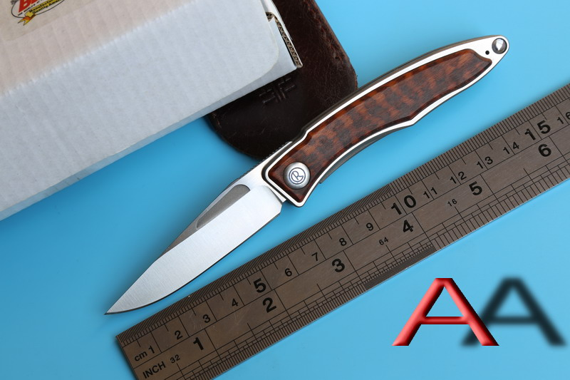 JUFULE CR Sebenza Mnandi M390 Blade wood Titanium handle folding knife Copper washers hunt camp Pocket Survival EDC Tools knives  цены