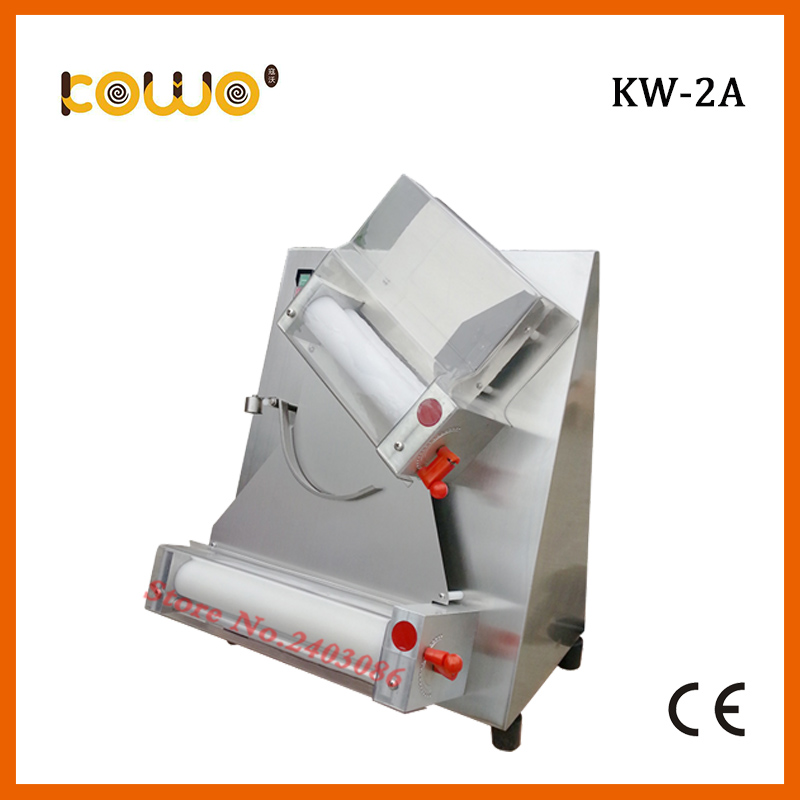 KW-2A commercial stainless steel electric dough sheeter pizza dough press roller machine for 12 inch pizza maker new premium high quality stainless steel commercial dough ball making machine automatic dough divider rounder for small business