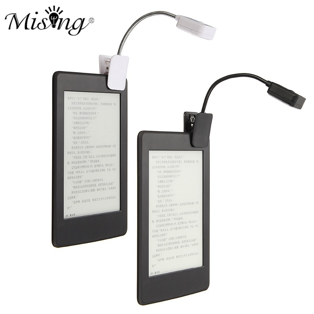 For Kindle For Notebook Reading Light LED Book Light Table Lamp Desk Lamp Mini Flexible Clip On Book DC6V