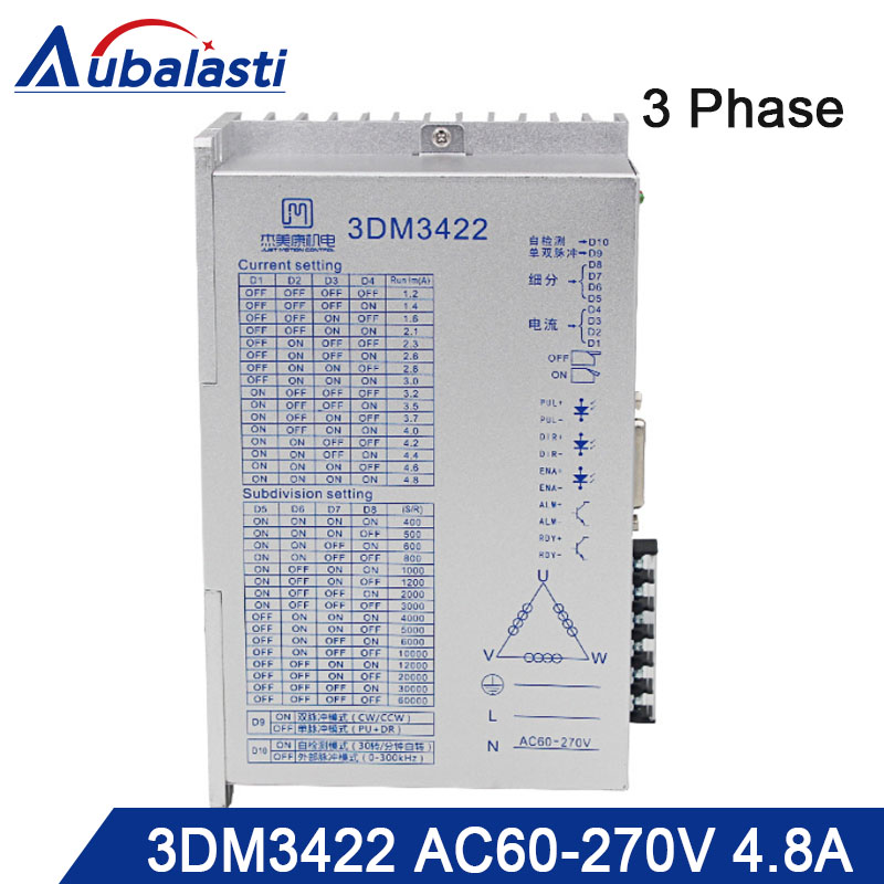 3phase AC stepper motor drver 3DM3422 input voltage AC60-270V match  With 110 130 serial step motor use for cnc router3phase AC stepper motor drver 3DM3422 input voltage AC60-270V match  With 110 130 serial step motor use for cnc router