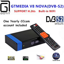 GT medya V8 Nova RCA DVB S2 uydu alıcısı H.265 dahili WIFI + 1 yıl avrupa İspanya CCcam Clines TV kutusu versiyonu V8 süper