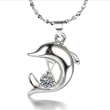 TJP Cute Animal Shaped Pendants Necklace For Women Fashion Girl 925 Sterling Silver Choker Accessories Chirstmas Gift