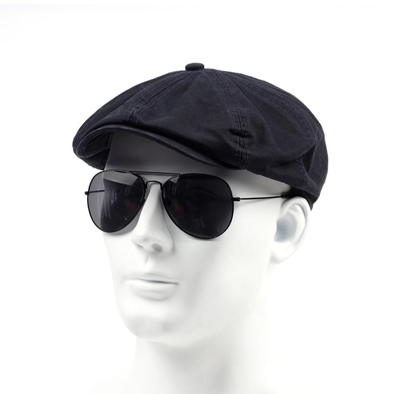 TUNICA Spring Autumn Cotton 100% Beret Casual Visor Cap For Men Fashion Vintage  Hat Men's Caps Adjustable Flat Berets