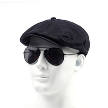 TUNICA wiosna jesień bawełna 100 Beret Casual czapka z daszkiem dla mężczyzn moda Vintage Hat czapki męskie regulowane płaskie berety tanie tanio Dla dorosłych Unisex 98654 Stałe Na co dzień