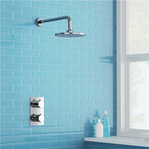 2 Dial 1 Way Bathroom Thermostatic Rain Shower Head Set Round Mixer faucet tap Shower Valve panel high quality 100% brass chrome finish shower faucet concealed thermostatic shower valve mixer water tap round 3 dial 3 way
