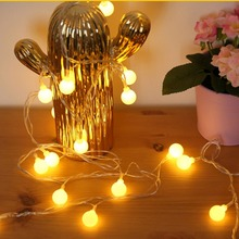 Ball Shape Battery Power Flexible Fairy String Light Wall Window Garden Christmas Decoration Party Outdoor Indoor String Lamp yingtouman 2018 battery powered yellow crack ball fairy string lamp outdoor christmas day garden party decoration light 5m 30led
