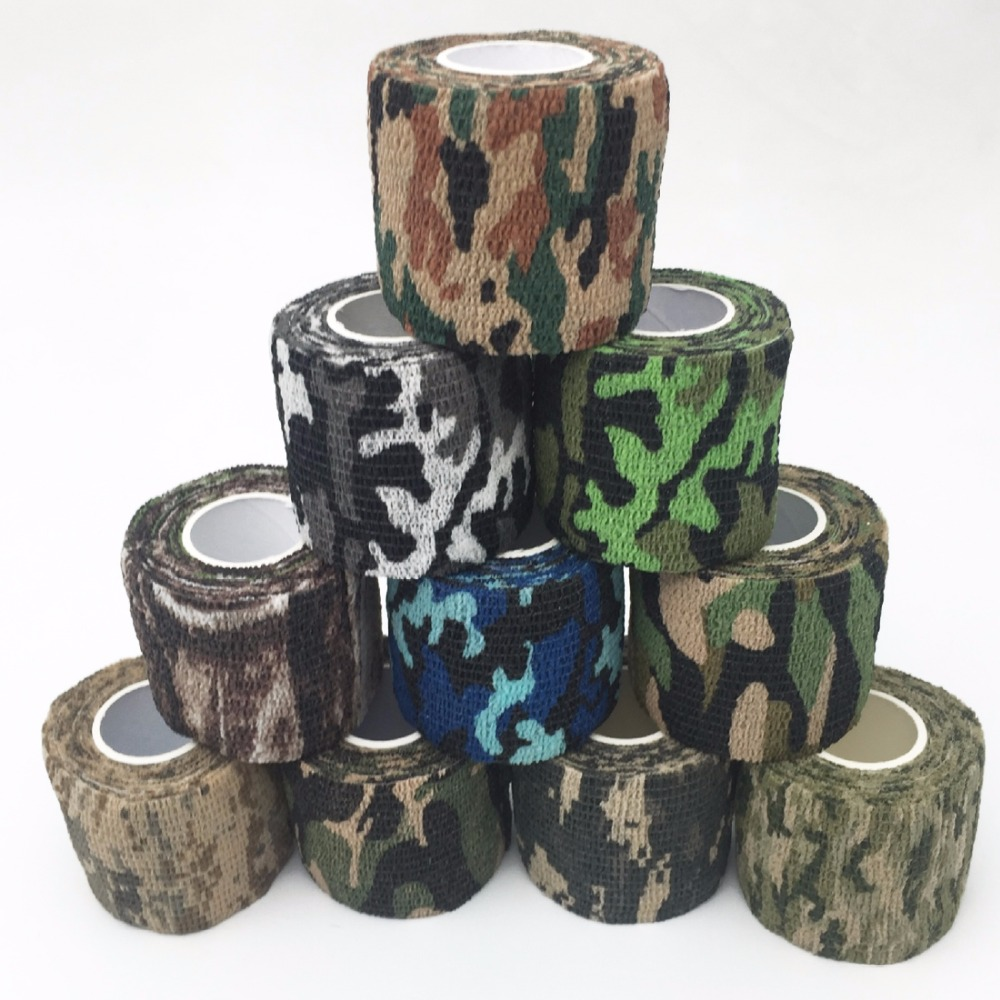 5cmx4.5m Army Camo Outdoor Hunting Shooting Tool Camouflage Stealth Tape Waterproof Wrap Durable Hunting Accessories5cmx4.5m Army Camo Outdoor Hunting Shooting Tool Camouflage Stealth Tape Waterproof Wrap Durable Hunting Accessories