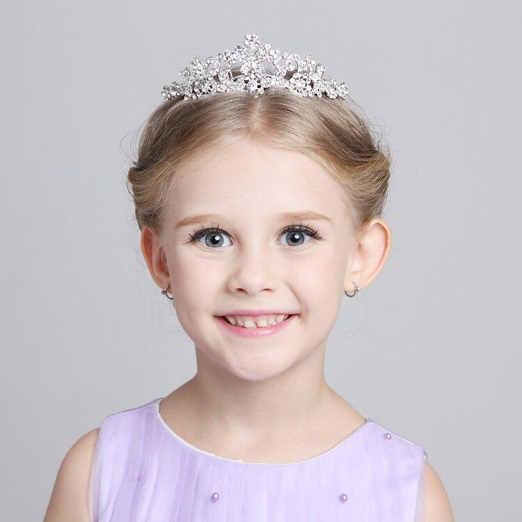 Nova moda strass princesa meninas de cristal da tiara bandana coroa
