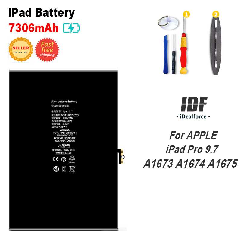Internal Li-ion Battery Replacement For iPAD Pro 9.7 A1673 A1674 A1675 (7306mAh) / Model IPADPRO9.7 iPadPro 9.7inchInternal Li-ion Battery Replacement For iPAD Pro 9.7 A1673 A1674 A1675 (7306mAh) / Model IPADPRO9.7 iPadPro 9.7inch
