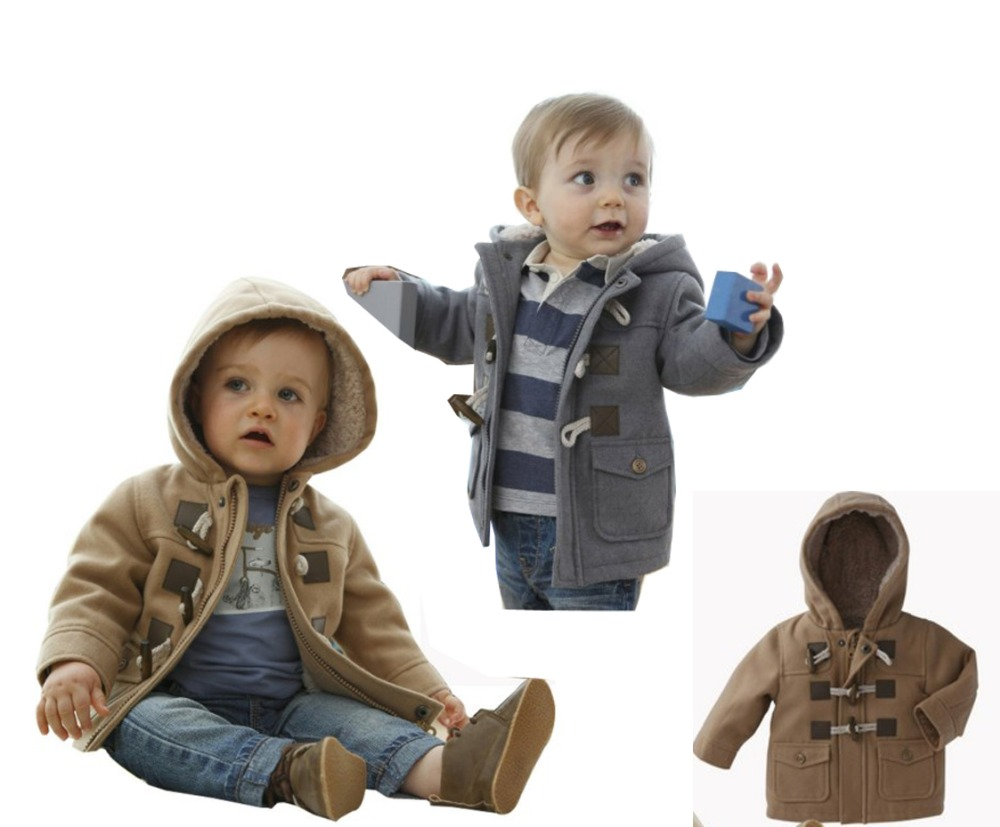f1249abe2 2016 Xams Toddler Baby Boys Warm Winter Hoodies Trench Coats Kids ...