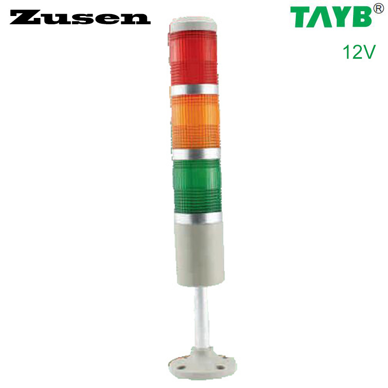 Zusen 50mm TB50-3T-D 12v three color signal tower light купить в Москве 2019