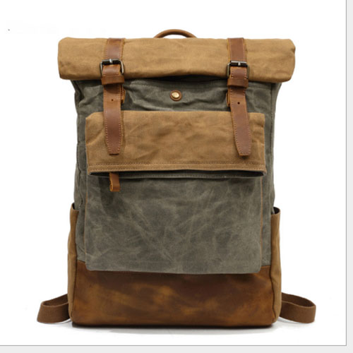 <font><b>Unisex</b></font> <font><b>Canvas</b></font> ArmyGreen Backpack Travel Schoolbag Male Backpack Men Large Capacity Rucksack Shoulder School <font><b>Bag</b></font> <font><b>Mochila</b></font> <font><b>Escolar</b></font> image