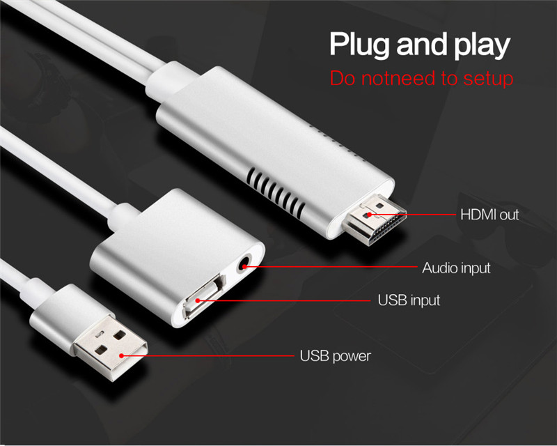 100% True Doitop 8 Pin To Hdmi Cable Hd 1080p Hdmi Converter Adapter Cable For Iphone X 8 7 6 6s Plus 5 5s Se For Apple Tv Plug And Play Hdmi Cables