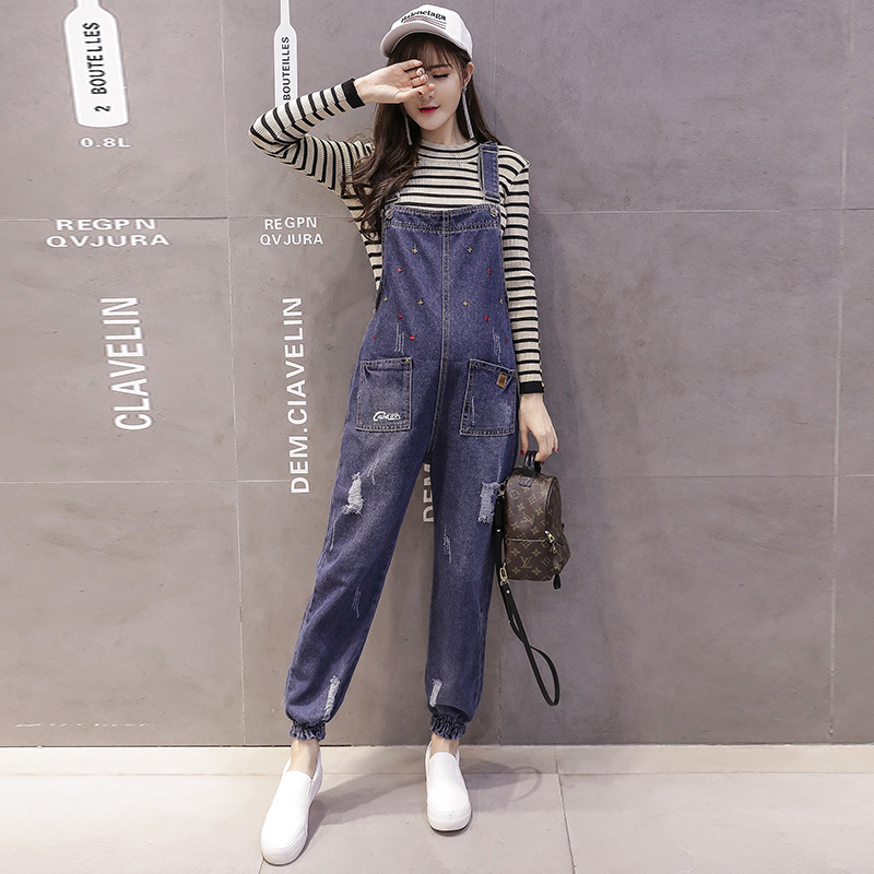 Sprng Autumn Maternity Jeans for Pregnant Women Adjustable Maternity Jeans Pants Overalls Suspender Pregnancy Pants YFK70