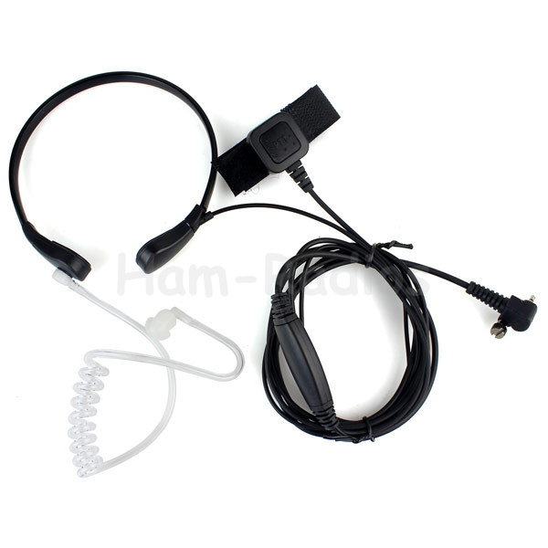 1 Pin Finger PTT Throat MIC Acoustic Tube Earpiece For SEPURA SRH3800 SRH3500 SRP3000 SRP2000