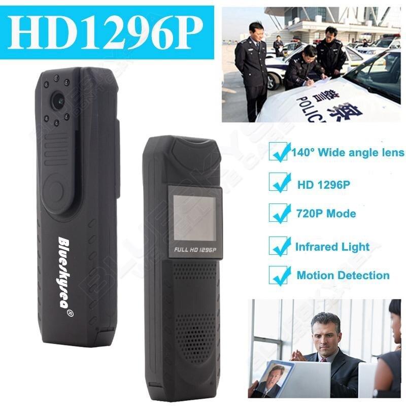 ФОТО Blueskysea HD 1296P Novatek 96650 Pen Camera DVR Body Police Pocket Camera Loop Recording