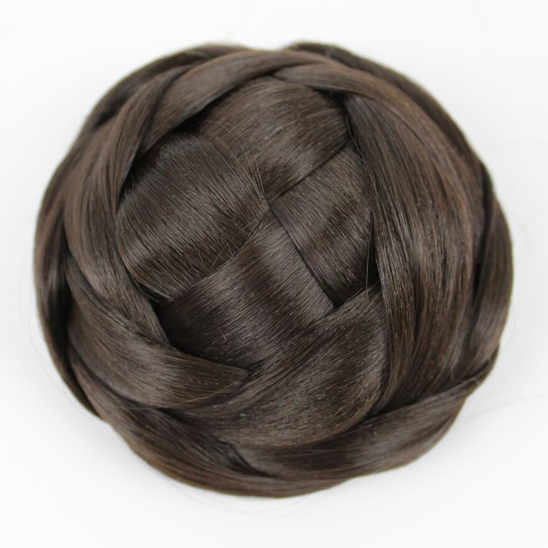 JOY&BEAUTY Hair Braided Clip In Hair Bun, Hair Chignon Matte Synthetic Hair 4 Color Available
