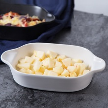 Creative ceramic plates, cheese baked rice tray, baking oven, tableware, ears, Western dishes, steak plat