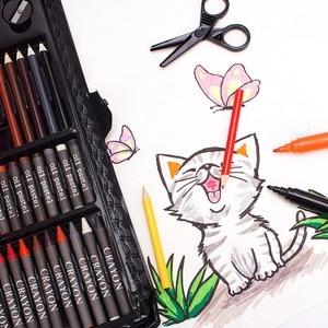 Image 3 - حافظة للرسم من إلهام ، وردي ستوديو فني محمول ، 150 طقم فني ومستلزمات التلوين هدية فنية للأطفال 4 & رائعة للارتيس