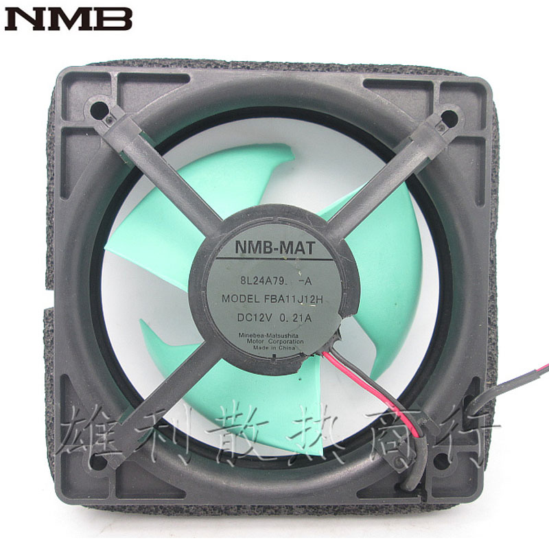Original NMB FBA11J12H-A 2-wire 12V 0.21A BL24A79-A refrigerator waterpoof cooling fan whitaker h halas j