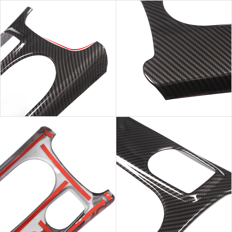 Image 4 - Car ABS Chrome / Carbon Fiber Texture Center Console Water Cup Holder Cover For Mercedes Benz A GLA CLA Class W176 X156 C117-in Interior Mouldings from Automobiles & Motorcycles