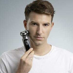 Image 2 - Youpin Enchen שחור אבן 3D חשמלי מכונת גילוח גוזם ראש חסימת הגנת תער רחיץ סוג C נטענת עבור גברים מתנה