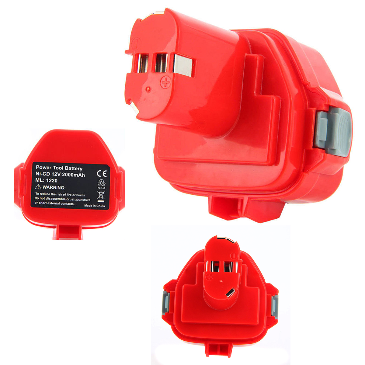 1 pc Rechargeable Battery for Makita 12V PA12 2000mAh Ni-CD Replacement Power Tool Battery for Makita 1220 1222 1233S P20