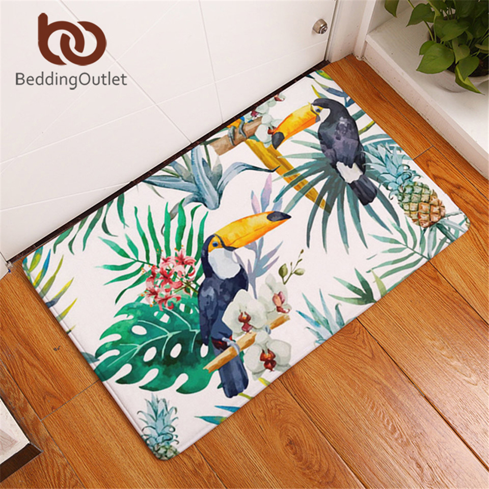 BeddingOutlet Plant Parrot Pineapple Carpet Polyester Rug