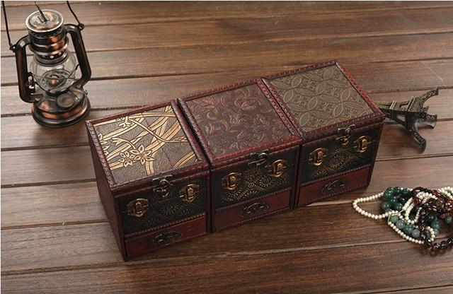 Chinese Clic Artdeco Collection 3 Layers Mirror Storage Box Bin