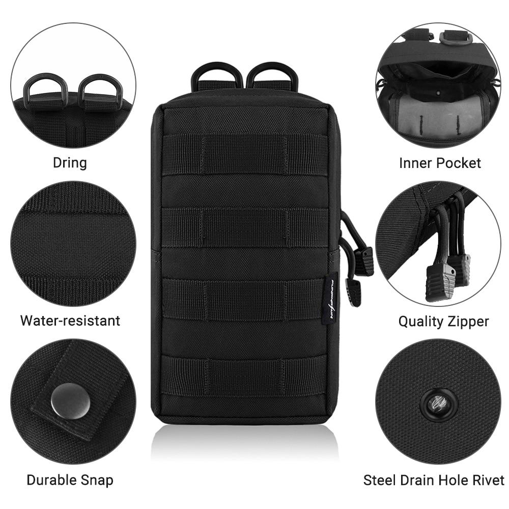 tactical molle belt pouch military bag magazine waterproof waist pack bags ZJP