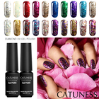 CATUNESS Colorful Glitter Gel Nail Polish 3D Diamond with Sequins Flash Effect Series Long-Lasting Professional Gel Lacquers
